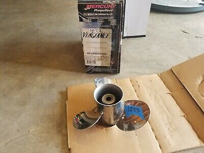 "New 9 1/2"" X 11P Mercury Vengeance Stainless Prop, 48-899820A05, 10 Spl., # 1833"