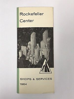 vtg NYC Rockefeller Center Shops & Services 1964 52-Page Guide Book Catalogue