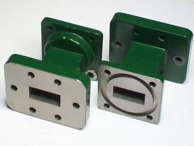 FMI FLANN MICROWAVE WR75 to UDR120 WR75 10-15 ghz microwave waveguide adapter
