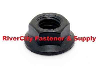 (10) Hex Flange Nut 1/4-20 Grade 8 Black Oxide Steel 1/4x20 pack of 10 1/4 x 20