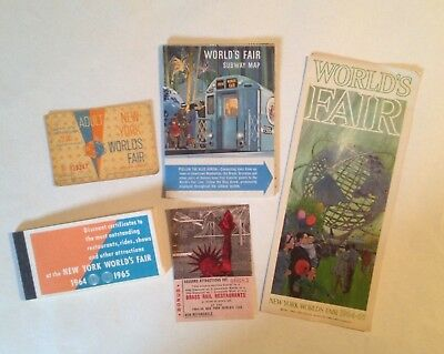 1964-65 New York World's Fair Brochure, Map, Ticket, and Discount Booklet