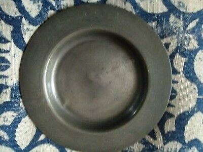 "Antique Pair of 18th Century English Pewter Plates 8"" & 7"""