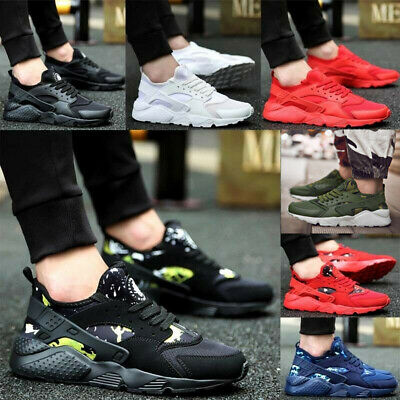 Uk Mens Womens Pumps Trainers Fashion Mesh Sport Running Casual Shoes Breathable