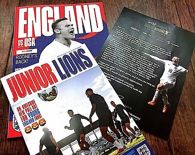 ENGLAND v USA Official Programme With Free Pullout and Flyer 15th November 2018