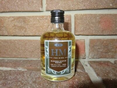 HM The King blended Scotch Whiskey Miniatur Glasflasche 100ml