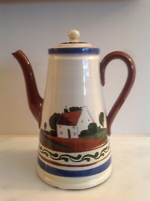 Torquay Motto Ware Coffee Pot Watcombe They Also Serve Who Only Stand And Wait