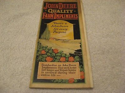 EARLY 1920s JOHN DEERE COLORED 32 PAGE QUALITY IMPLEMENTS BROHURE PAMPHLET NICE