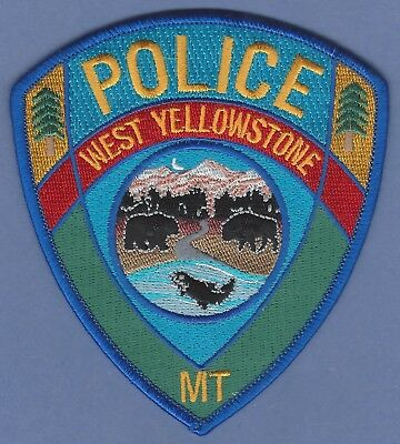West Yellowstone Wyoming Police Patch New Style