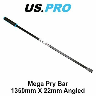 "US PRO 53"" / 1350mm x 22mm Angled Pry Bar Wrecking Bar Heavy Duty Crow Bar 6722"