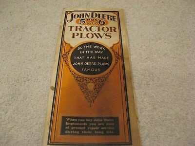 EARLY 1920s JOHN DEERE COLORED 16 PAGE NUMBER 5 6 TRACTORS BROHURE PAMPHLET NICE