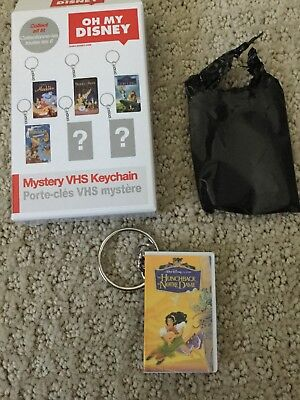Oh My Disney Mystery VHS Keychain The Hunchback Of Notre Dame 1996 NEW