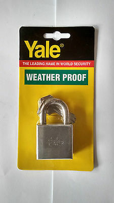 1 x YALE 40 MM PADLOCK STAINLESS STEEL SHACKLE CHROME - FREE POSTAGE
