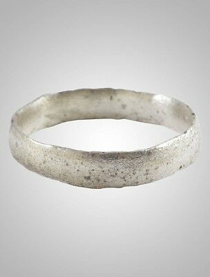 Ancient Viking  wedding Ring Band  C.866-1067A.D. Size 8 1/2 (18.6mm)(Brr1038)