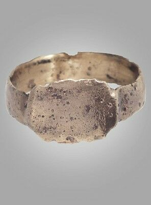 Medieval  Ring Jewelry C.13th-15th Century  Size 9 1/4 (18.9mm) (BRR188)