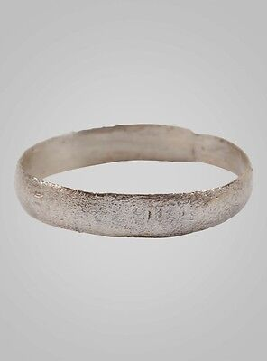 Authentic Ancient Viking Ring Silver over Bronze C.866-1067A.D. Size 10   (19.8m