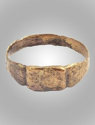 Medieval Mans's Pinky Ring Jewelry C.13th-15th Century  Size 10 (19.mm)(BRR142)