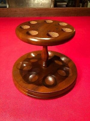 Beautiful Vintage 7 Day Pipe Stand! Great design! Beautiful Wood w/ Day Markings