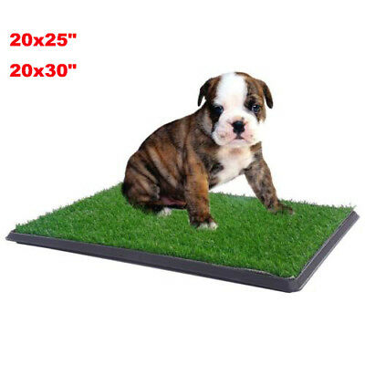 Puppy Dog Potty Toilet Trainer Artificial Turf Grass Mat Pee Pad Tray Patch US