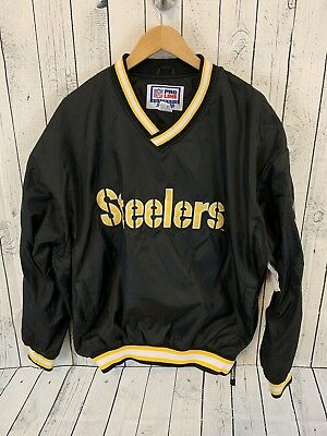 new style 79212 e11b6 VTG 90S PITTSBURGH Steelers Spell Out Starter Pro Line Pullover Jacket Size  XL
