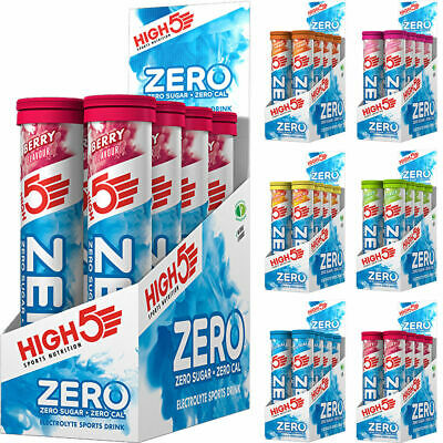 High 5 Zero Electrolyte Hydration Tabs x 8 Tubes 160 Tabs High5 Energy Tablets