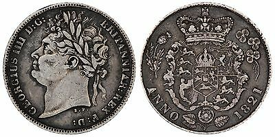 1821 George IV sixpence Great Britain silver coin