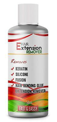 Hair Extensions Keratin/Silicon Fusion Pre-Bonded Glue Remover Solution 50ml