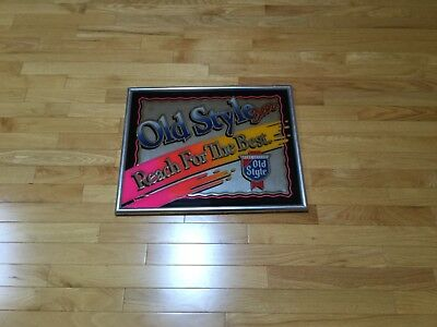 Old Style Wall Mirror Sign Vintage