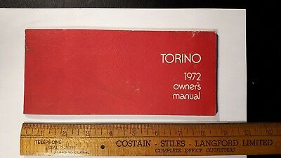 1972 FORD - Torino - Original Owner's Manual - Good Condition - (US)