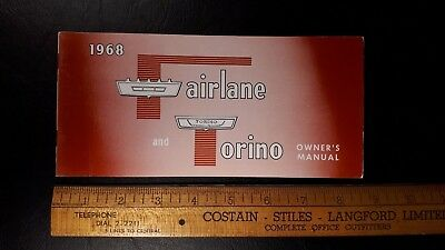 1968 FORD - Fairlane/Torino - Original Owner's Manual - Excellent Cond'n - (US)