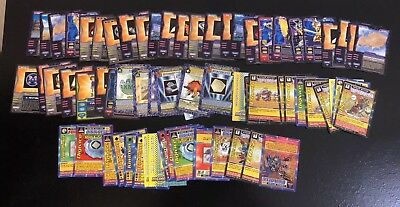 Digimon Cards Lot Of 66 Trading Game Collectors Collectible Lot Bundle