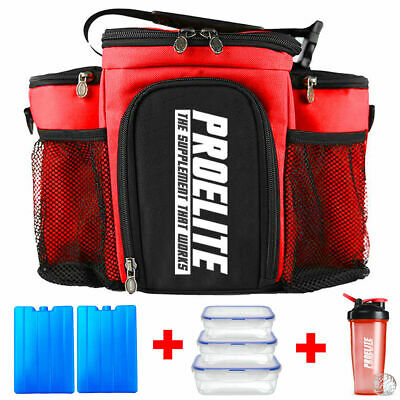 3 Meal Bag Prep Gym Management Lunch Cool Holdall Food Cooler Insulated ISO Bags