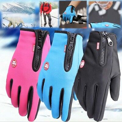Winter Warm Windproof Waterproof Anti-slip Thermal Touch Screen Gloves Cycling