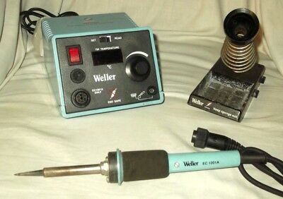 'Weller'  Soldering Station EC2100A  &  Soldering Iron EC1201A with Stand.