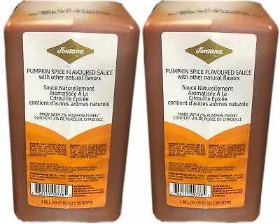 Fontana By Starbucks (2-Pack) Pumpkin Spice Flavored Beverage Sauce 1.86fl oz