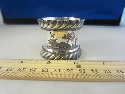 Country Scene Napkin Ring Gorgeous Silver Silverplate
