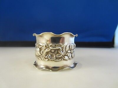 Fluted Floral Napkin Ring Gorgeous Silver Silverplate