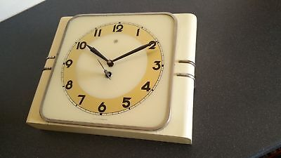 Vintage 1950's mechanical  Wall clock made in Czechoslovakia. Great condition