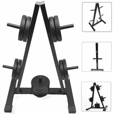"""TnP Standard 1"""" Barbell Weight Plate Storage Rack 5 Post Disc Stand Tree Holder"""