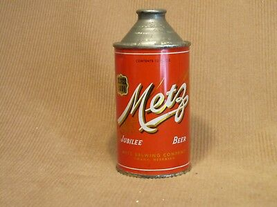 Metz Jubilee Beer Cone Top Can - Metz Brewing Company, Omaha, Nebraska