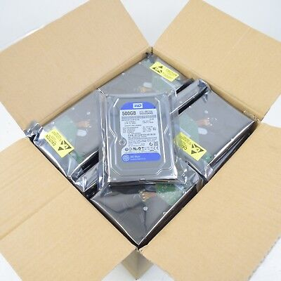 "Lot of 20) WD & Seagate SATA 500GB 3.5"" Desktop Hard Drives Working Clean Wiped"
