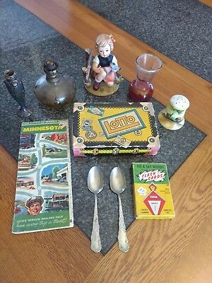 10 Piece lot of misc antique items