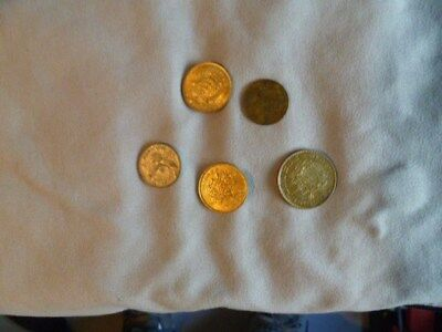 lot of (5) coins from Thailand