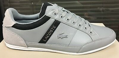 Lacoste Storda Black Green Leather Men/'s Size Leather New In Box 7-37CAM00861B4