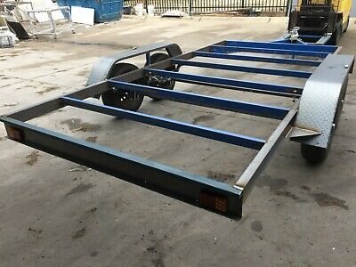 Car Trailer Frame Tandem axle 12X6.6FT 2T USE4 RACE NO RAMPS NO FLOOR NO PAINT