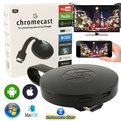 Chromecast Wireless Mirascreen Google Dongle Media Video Streamer 2 Hdmi
