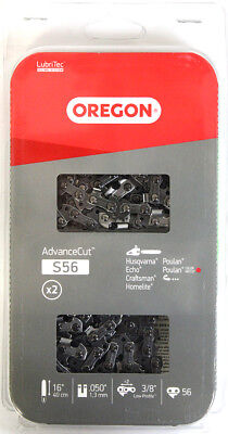 "2 Oregon S56 16/"" 3//8/"" Chain Saw Chain NEW IN PACKAGE"