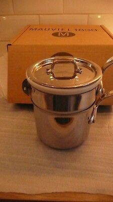 MAUVIEL1830, BAIN MARIE WITH WHITE  CHINA INSERT,12 cm,VGC,STILL BOXED,USED ONCE