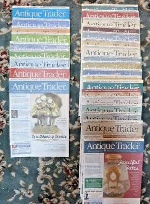 BIG LOT 38 ANTIQUE TRADER Magazines 2013 & 2014