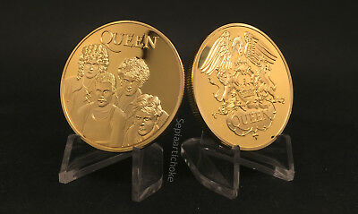 QUEEN GOLDEN COIN Freddie Mercury Brian May Roger Taylor British Rock Band Album