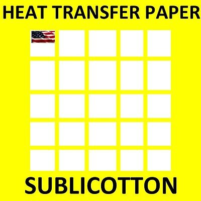 "SUBLICOTTON HEAT TRANSFER PAPER  100 PK 11x17"" Sublimation paper for Cotton TOP"